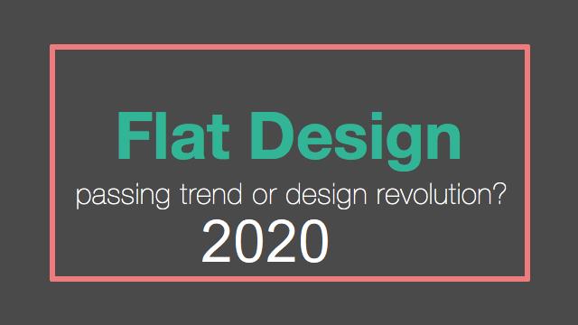 Flat Web Design Trend